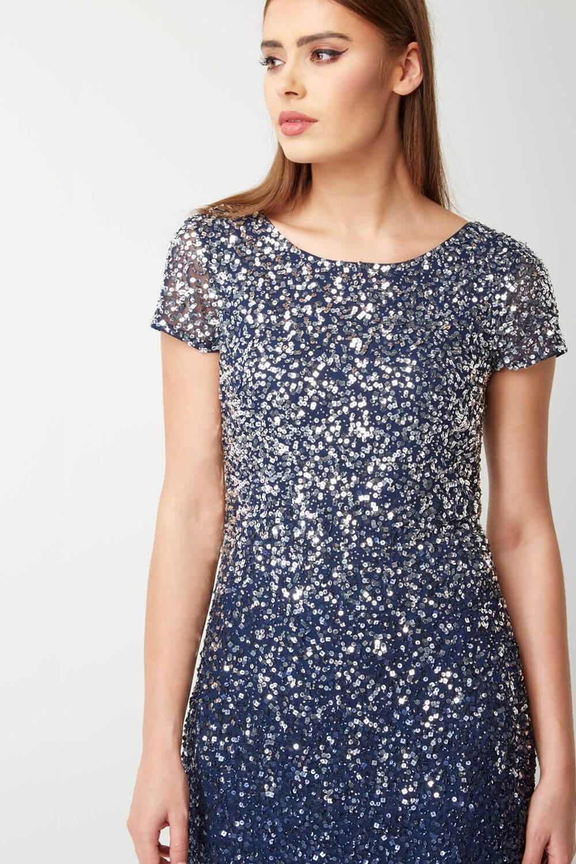 Roman-Originals-Women-039-s-Blue-Ombre-Sequin-Shift-Dress-Sizes-10-20 thumbnail 9