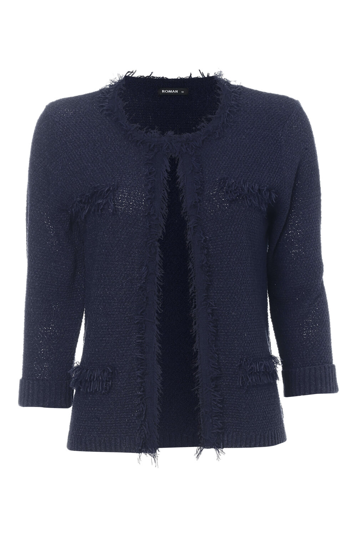 Roman-Originals-Women-039-s-White-Fluffy-Knitted-Cardigan-Sizes-10-20 thumbnail 20