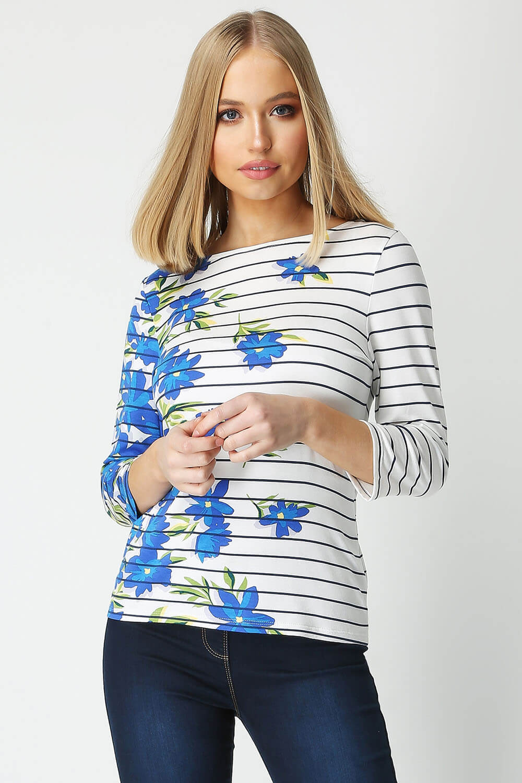 Roman-Originals-Women-039-s-Stripe-Floral-Top-Sizes-10-20 thumbnail 19