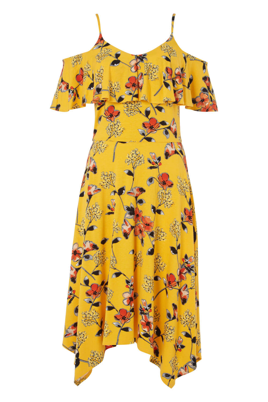 Roman-Originals-Women-Hanky-Hem-Cold-Shoulder-Dress thumbnail 30