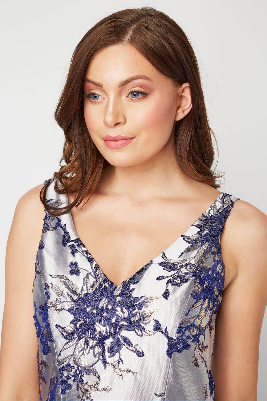 Roman-Originals-Women-Floral-Jacquard-Gown-Dress thumbnail 13