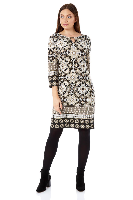 Tile Print Shift Dress Dress Dress   Sonderkauf    Schön geformt    Tadellos    Outlet Online Store    Produktqualität  11099b
