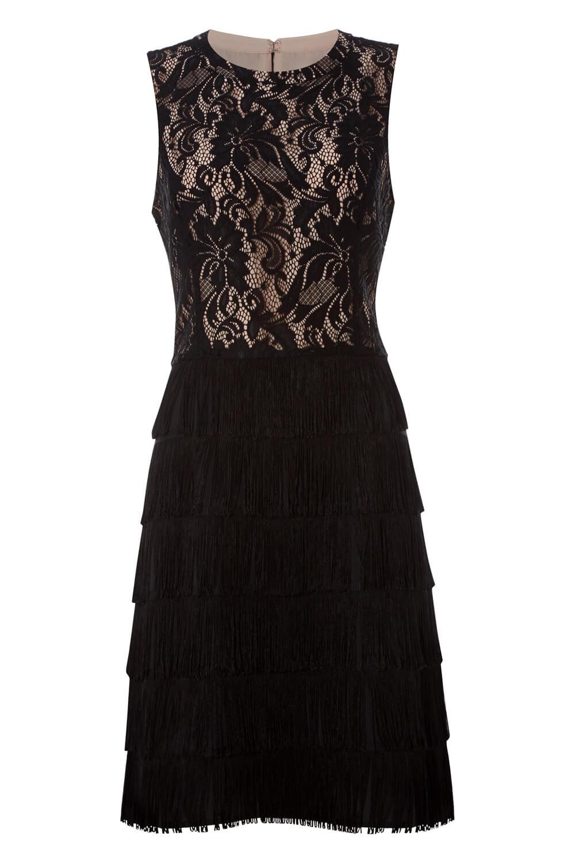thumbnail 18 - Roman-Originals-Womens-Lace-Flapper-Tassels-Dress-in-Black-Sizes-10-20