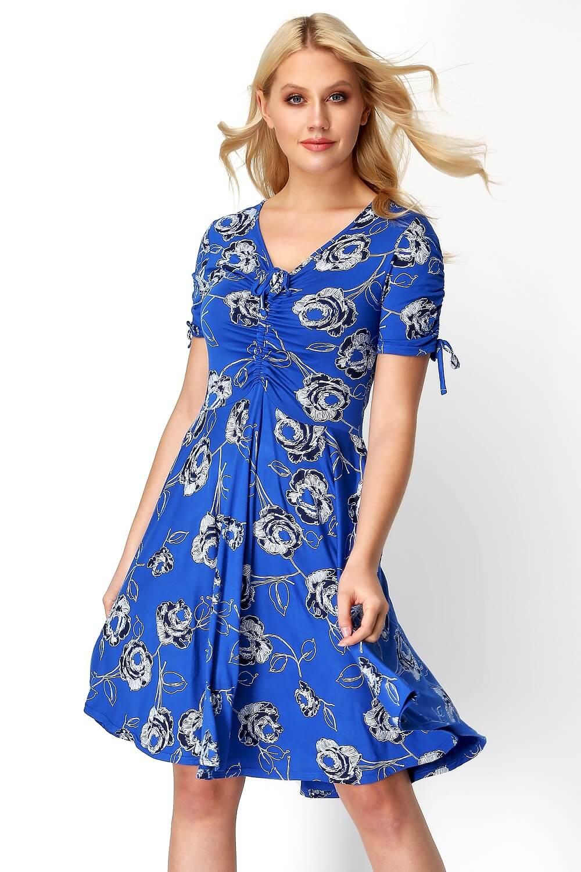 Roman-Originals-Rose-Print-Tea-Dress thumbnail 8