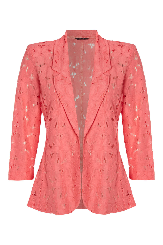 Roman-Originals-Womens-Rose-Pink-Floral-Lace-Jacket-Sizes-10-20 thumbnail 18