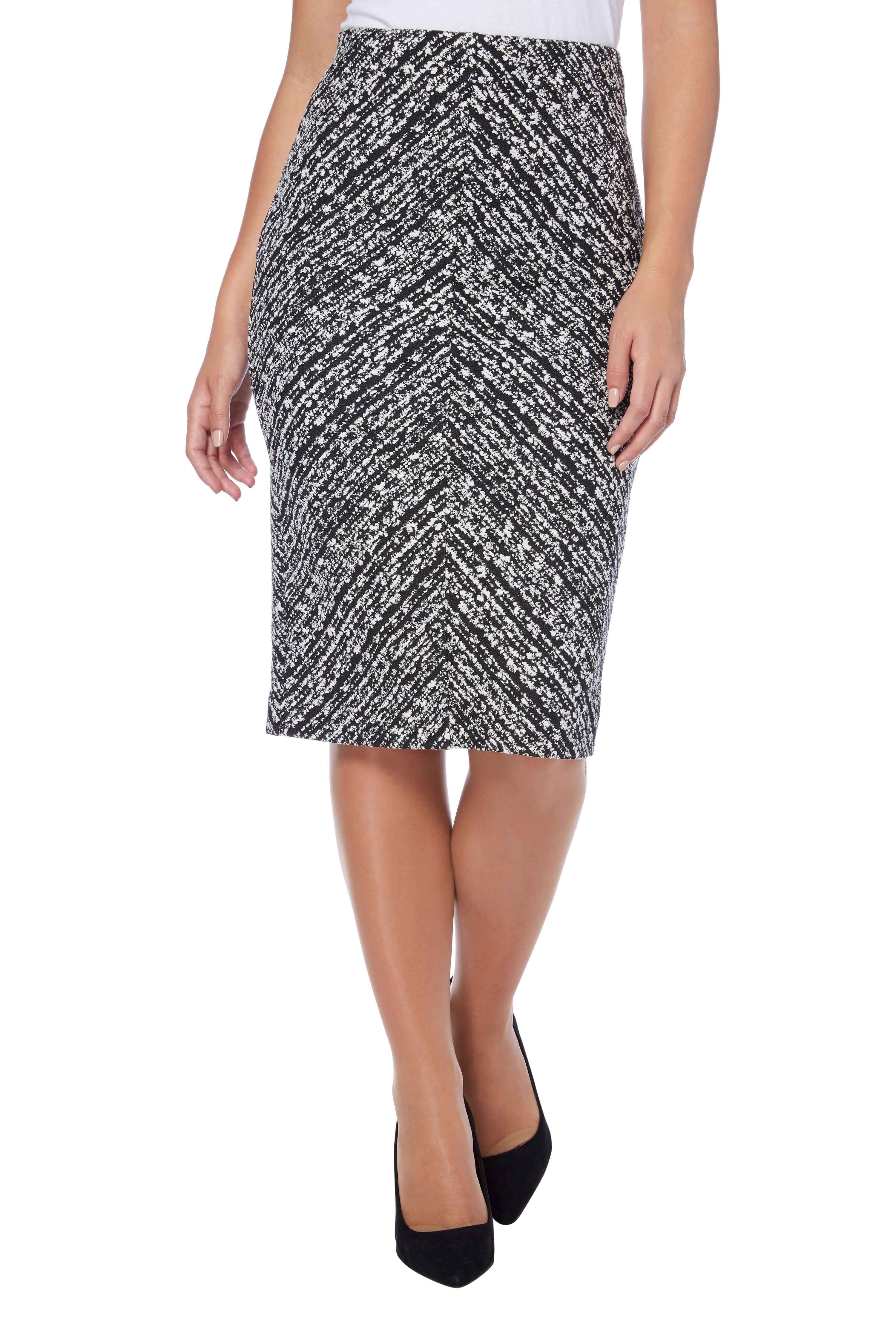 thumbnail 47 - Roman Originals Women's Textured Cotton Mix Jersey Short Skirt Formal Work Wear
