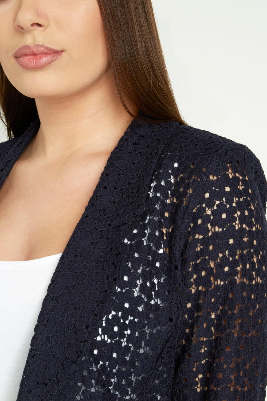 Roman-Originals-Women-039-s-Blue-Floral-Lace-Jacket-Sizes-10-20 thumbnail 23