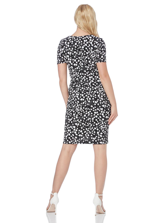 Roman-Originals-Womens-Black-Short-Sleeve-Printed-Dress-Sizes-10-20 thumbnail 11