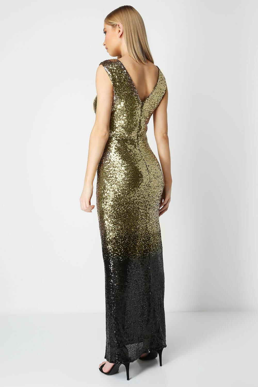 Roman-Originals-Women-Ombre-Sequin-Maxi-Dress-Ladies thumbnail 10