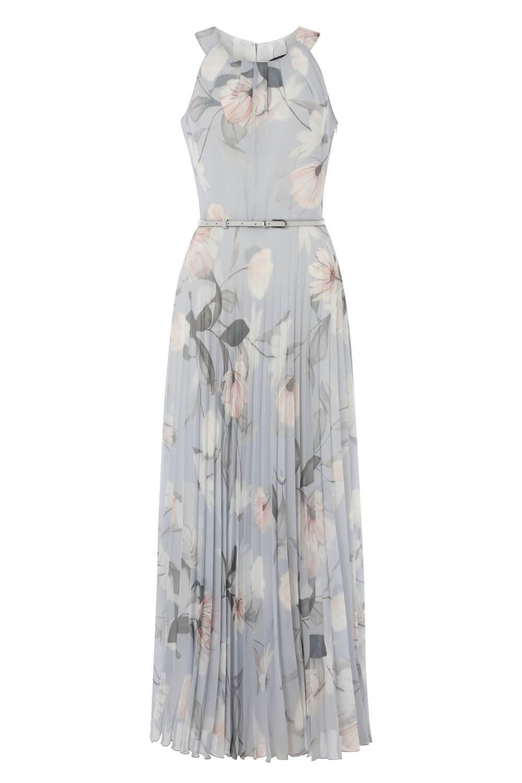 Roman-Originals-Women-039-s-Sleeveless-Floral-Pleated-Maxi-Dress thumbnail 18