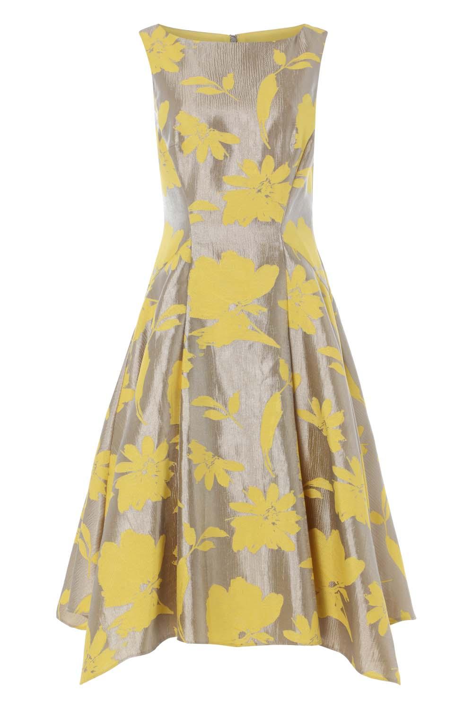 Roman-Originals-Mujeres-Vestido-ajustado-y-acampanado-de-Jacquard-Floral-50-algodon miniatura 14