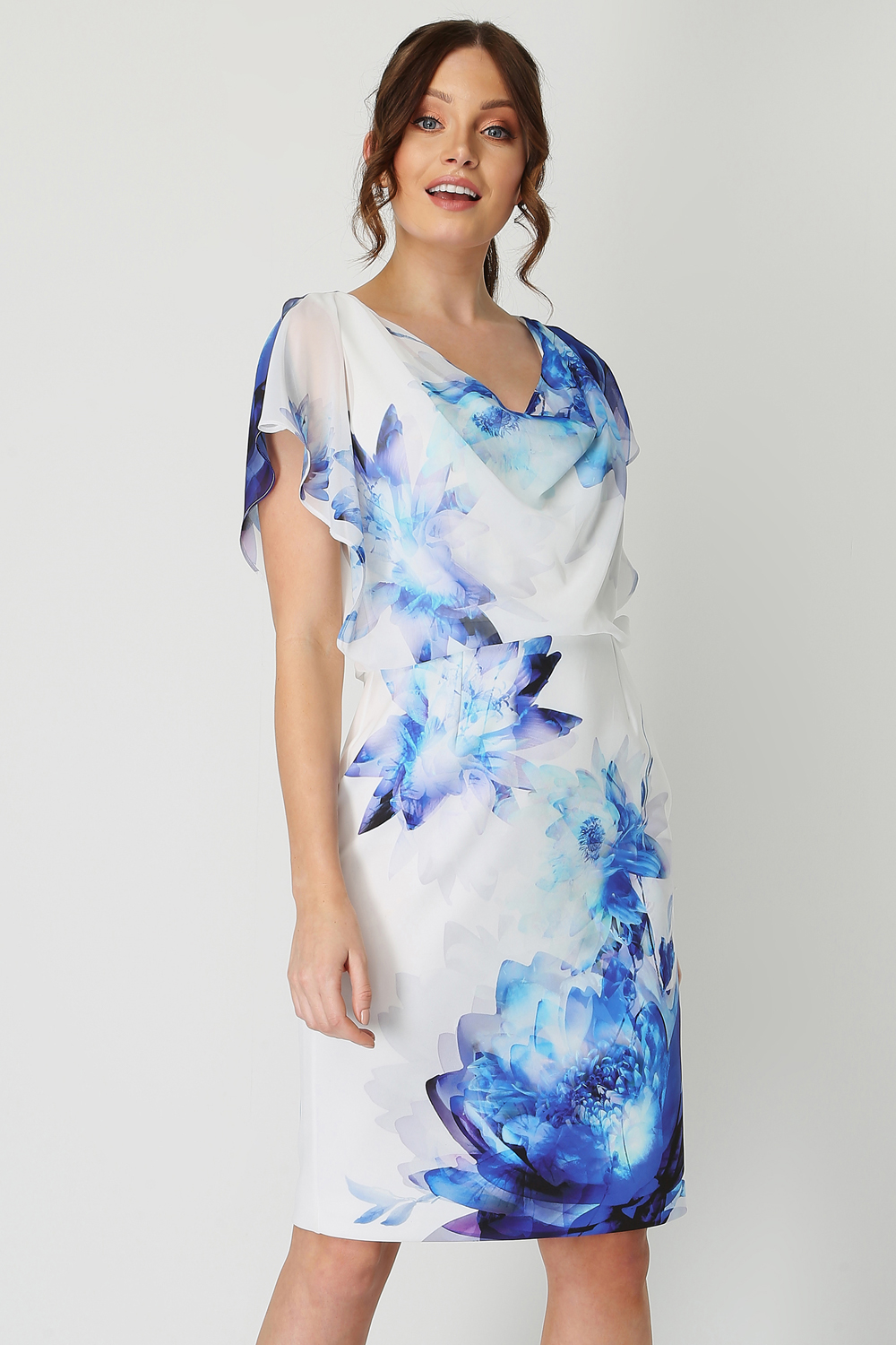 Roman-Originals-Chiffon-Overlay-Scuba-Dress thumbnail 8