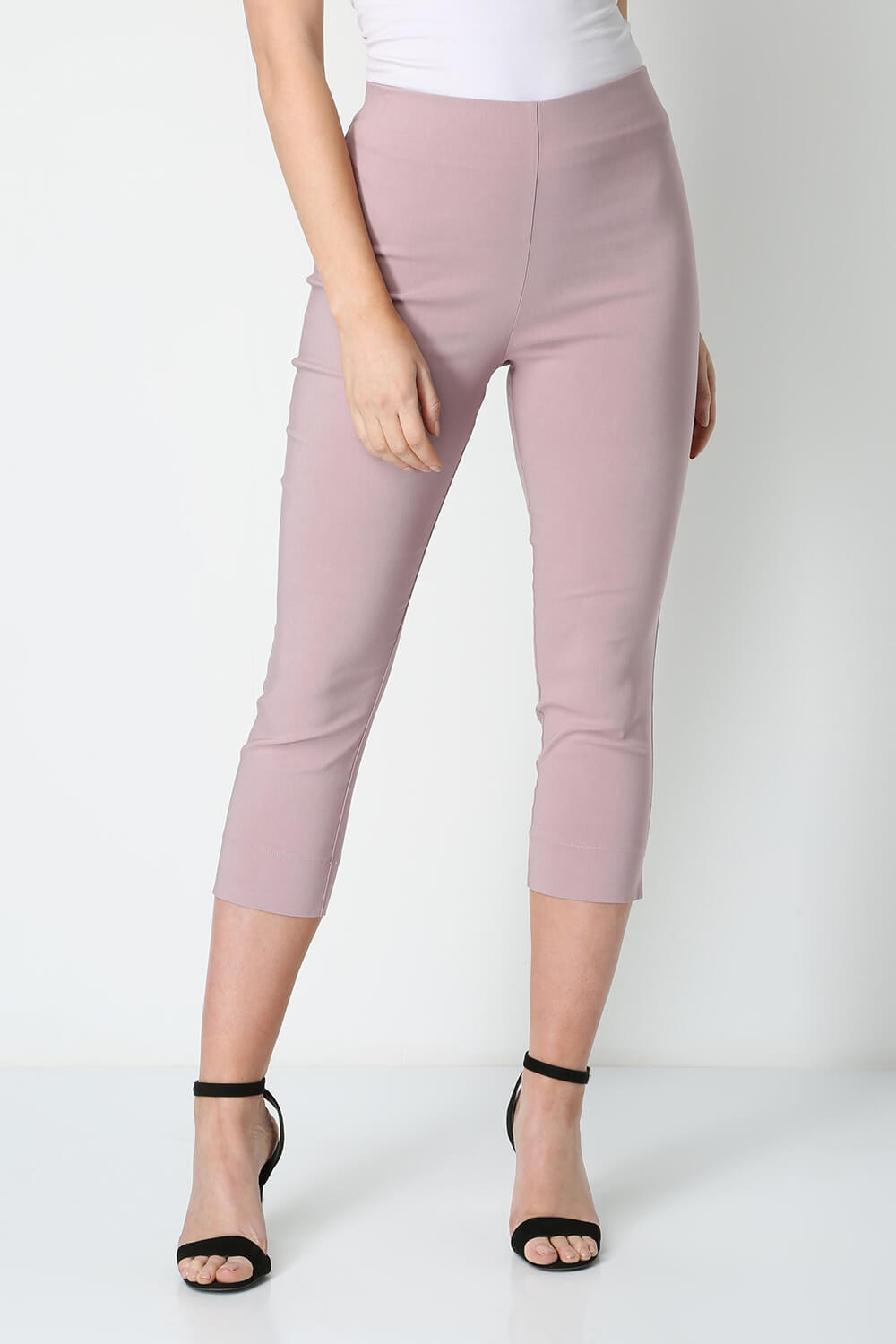 Roman-Originals-Women-Cropped-Stretch-Bengaline-Capri-Trousers-3-4-Thick-Legging 縮圖 142