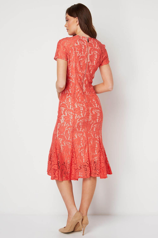 Roman-Originals-Women-039-s-Lace-Flute-Hem-Midi-Dress thumbnail 30