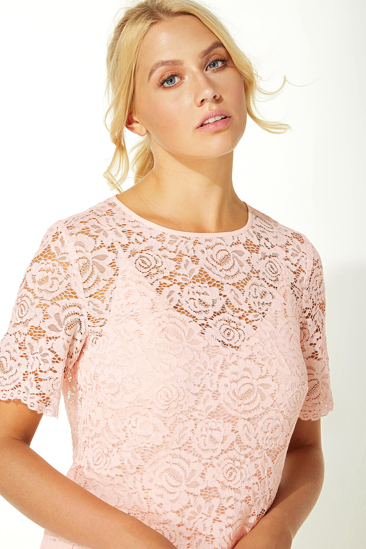 Roman-Originals-Women-Lace-Top-Overlay-Pleated-Dress thumbnail 30