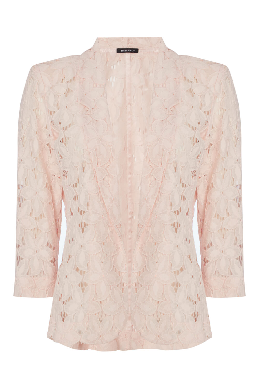 Roman-Originals-Womens-Rose-Pink-Floral-Lace-Jacket-Sizes-10-20 thumbnail 33