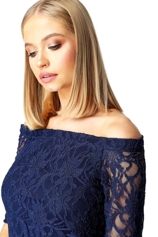 Roman-Originals-Women-039-s-Lace-Flute-Hem-Midi-Dress thumbnail 23