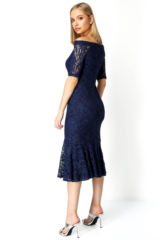 Roman-Originals-Women-039-s-Lace-Flute-Hem-Midi-Dress thumbnail 22