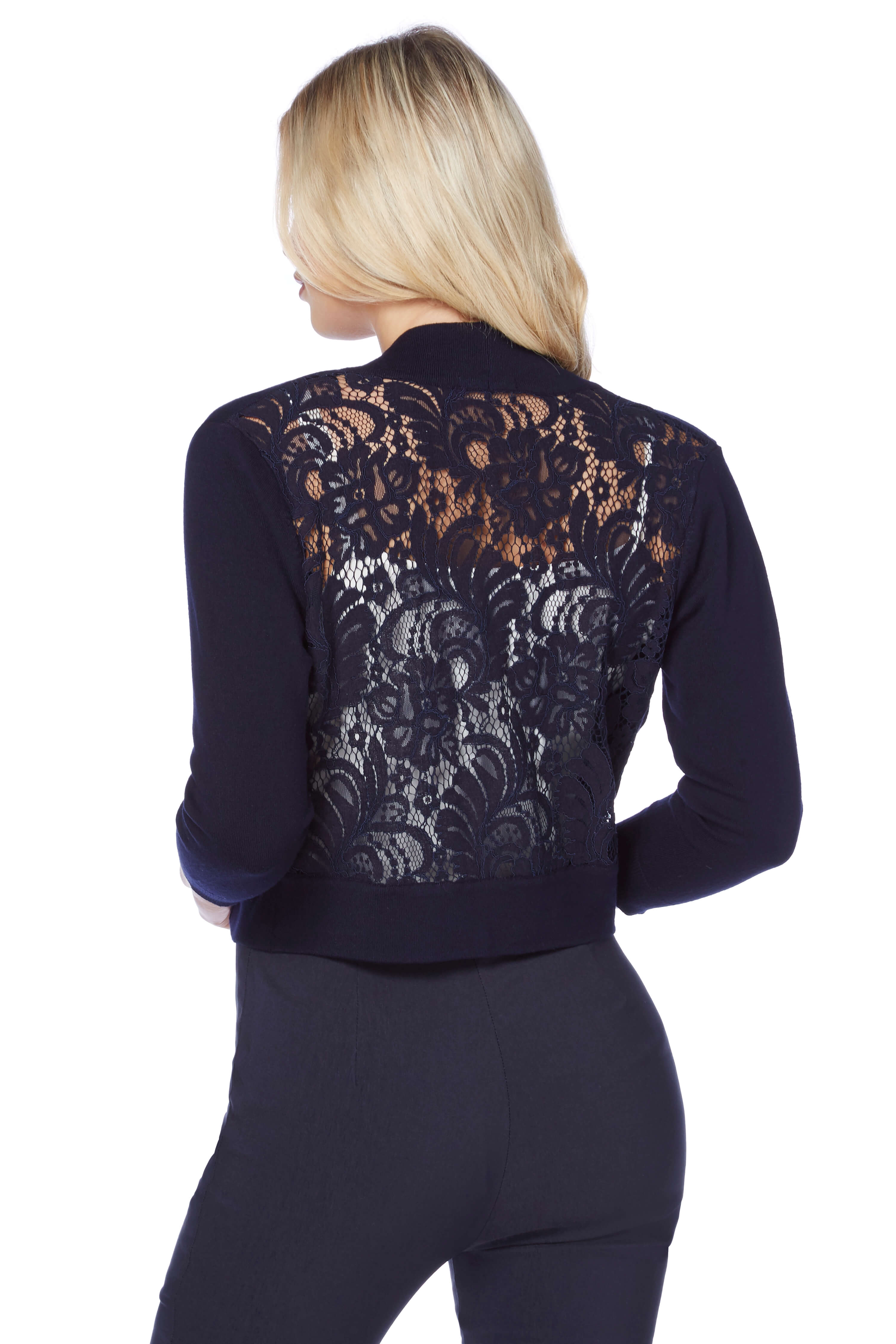 Roman-Originals-Women-039-s-White-Lace-Back-Shrug-Cardigan-Sizes-10-20 thumbnail 23