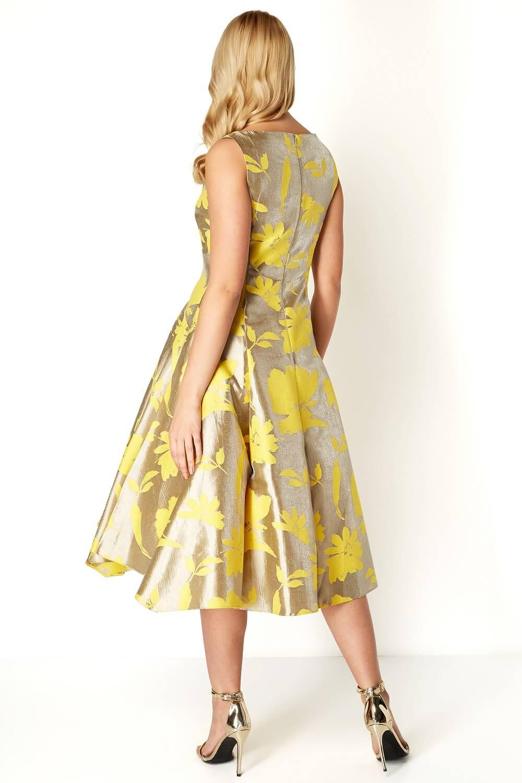 Roman-Originals-Mujeres-Vestido-ajustado-y-acampanado-de-Jacquard-Floral-50-algodon miniatura 12