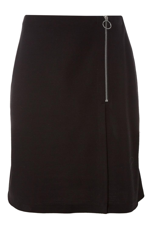 Roman-Originals-Women-Ponte-Zip-Skirt-in-Black-sizes-10-20 thumbnail 10