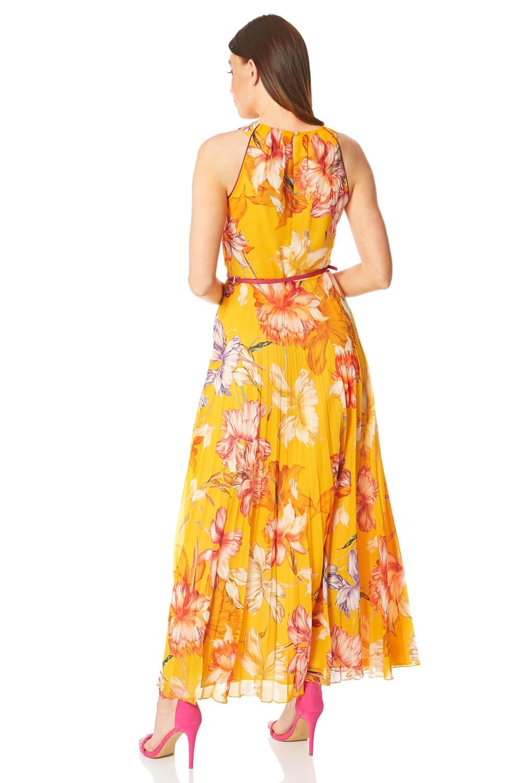 Roman-Originals-Women-039-s-Sleeveless-Floral-Pleated-Maxi-Dress thumbnail 20