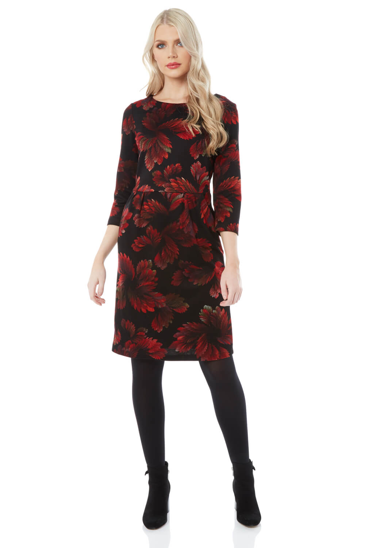 Roman-Originals-Women-Floral-Ponte-Dress thumbnail 9