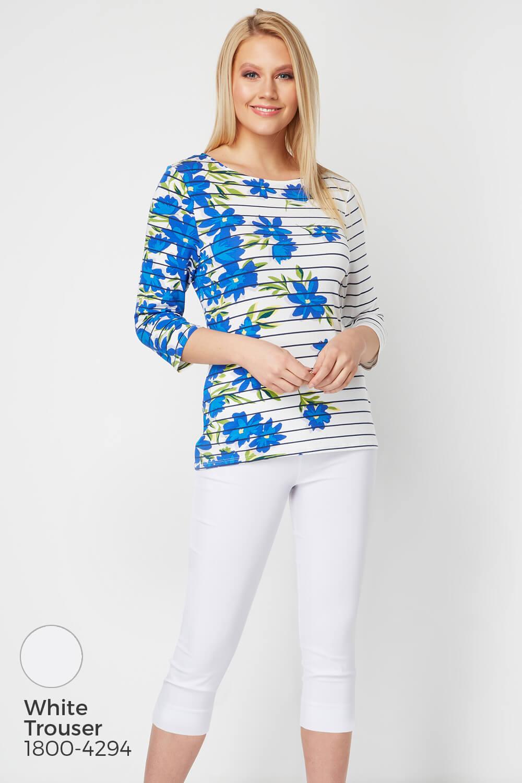 Roman-Originals-Women-039-s-Stripe-Floral-Top-Sizes-10-20 thumbnail 26