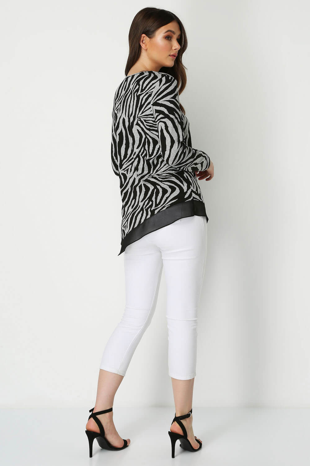 Roman-Originals-Zebra-Print-Chiffon-Hem-Top-Ladies-Blouse