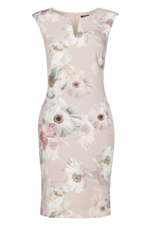 Roman-Originals-Womens-Light-Pink-Floral-All-Over-Print-Scuba-Dress-Sizes-10-20 thumbnail 18
