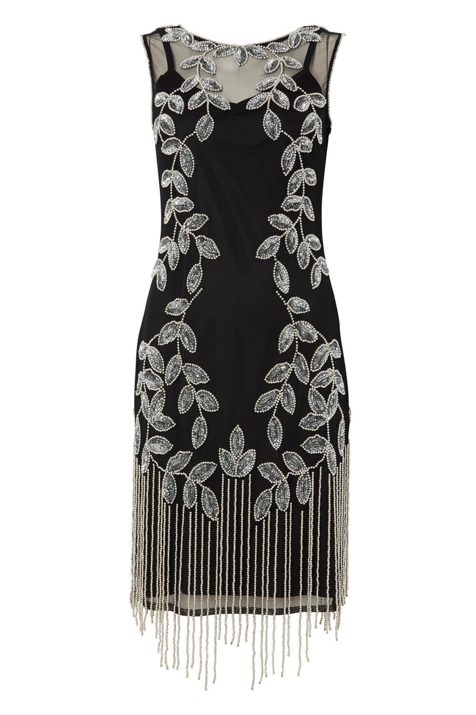 Roman-Originals-Ladies-Embellished-Flapper-Dress-Silver thumbnail 25