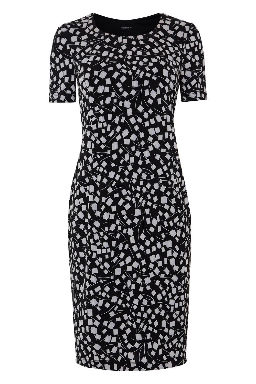 Roman-Originals-Womens-Black-Short-Sleeve-Printed-Dress-Sizes-10-20 thumbnail 17