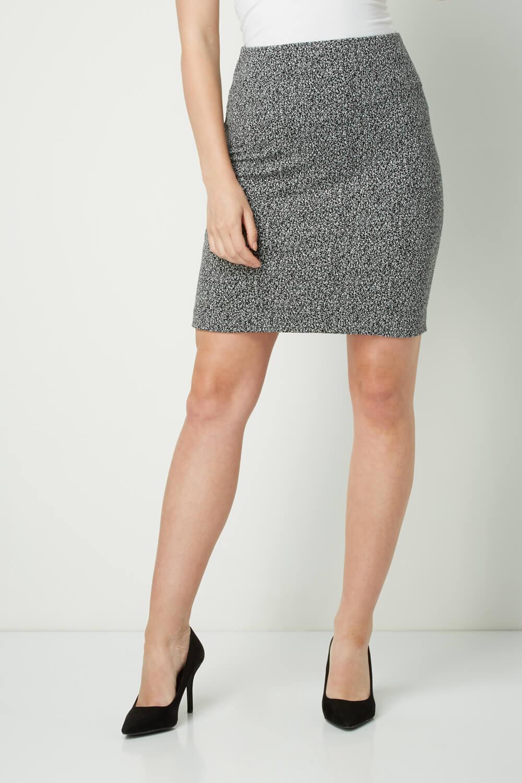 thumbnail 14 - Roman Originals Women's Textured Cotton Mix Jersey Short Skirt Formal Work Wear