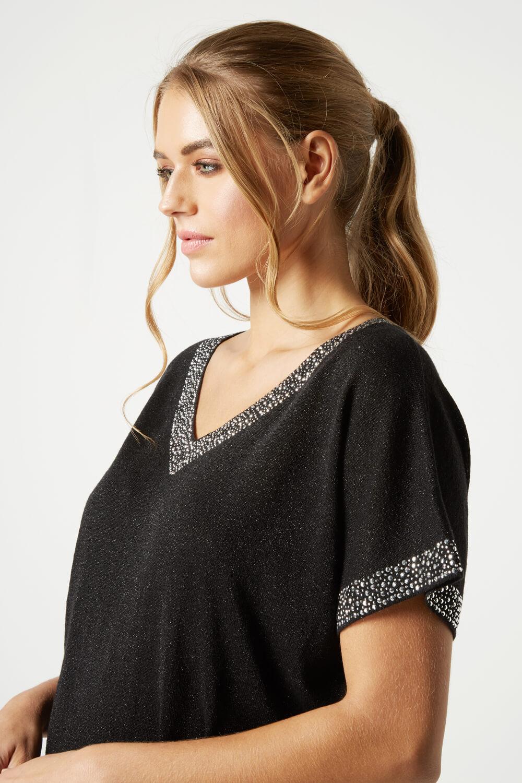 Roman-Originals-Women-039-s-Embellished-Batwing-T-shirt thumbnail 16
