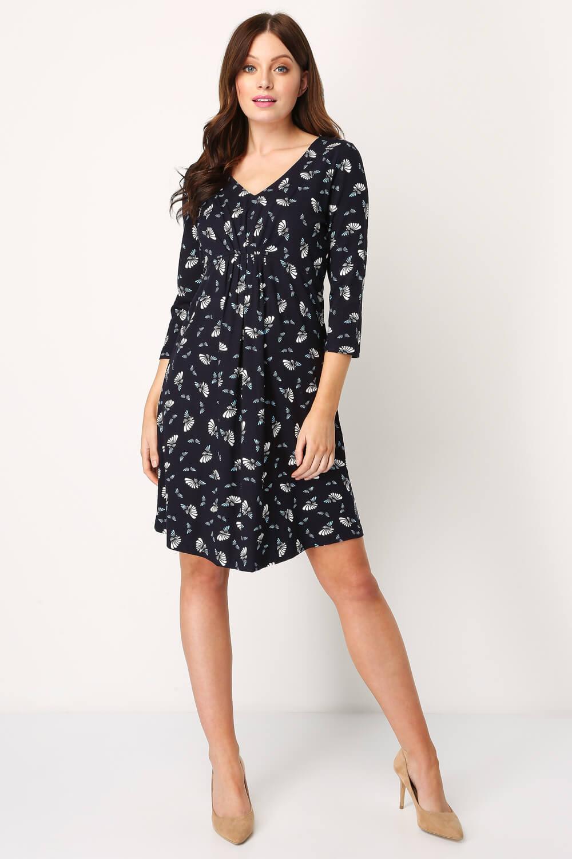 Roman-Originals-Women-039-s-Fan-Print-Shift-Dress thumbnail 13