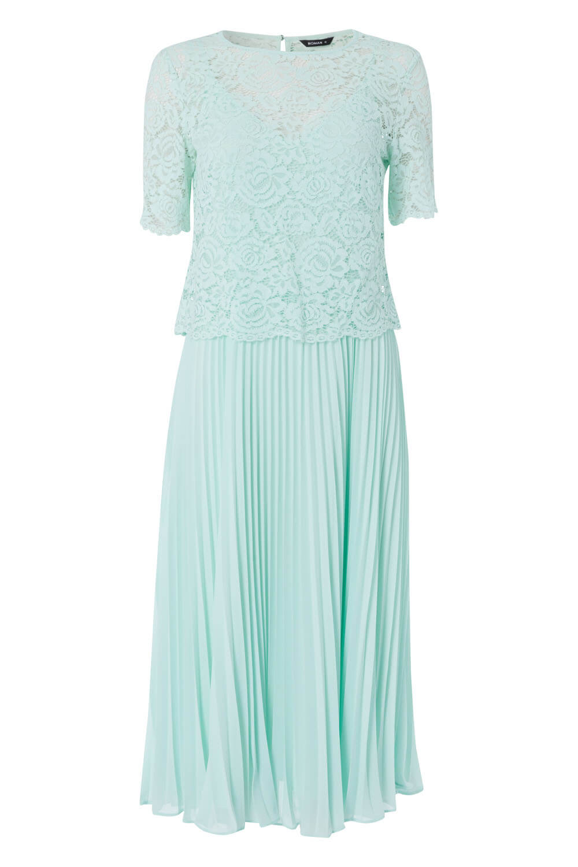 Roman-Originals-Women-Lace-Top-Overlay-Pleated-Dress thumbnail 39