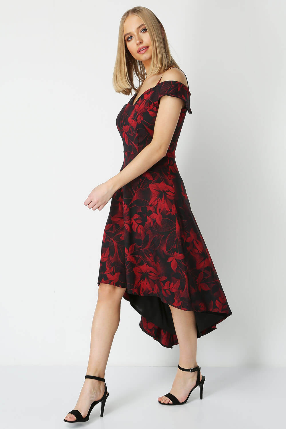 Roman-Originals-Women-Floral-Fit-and-Flare-Dress