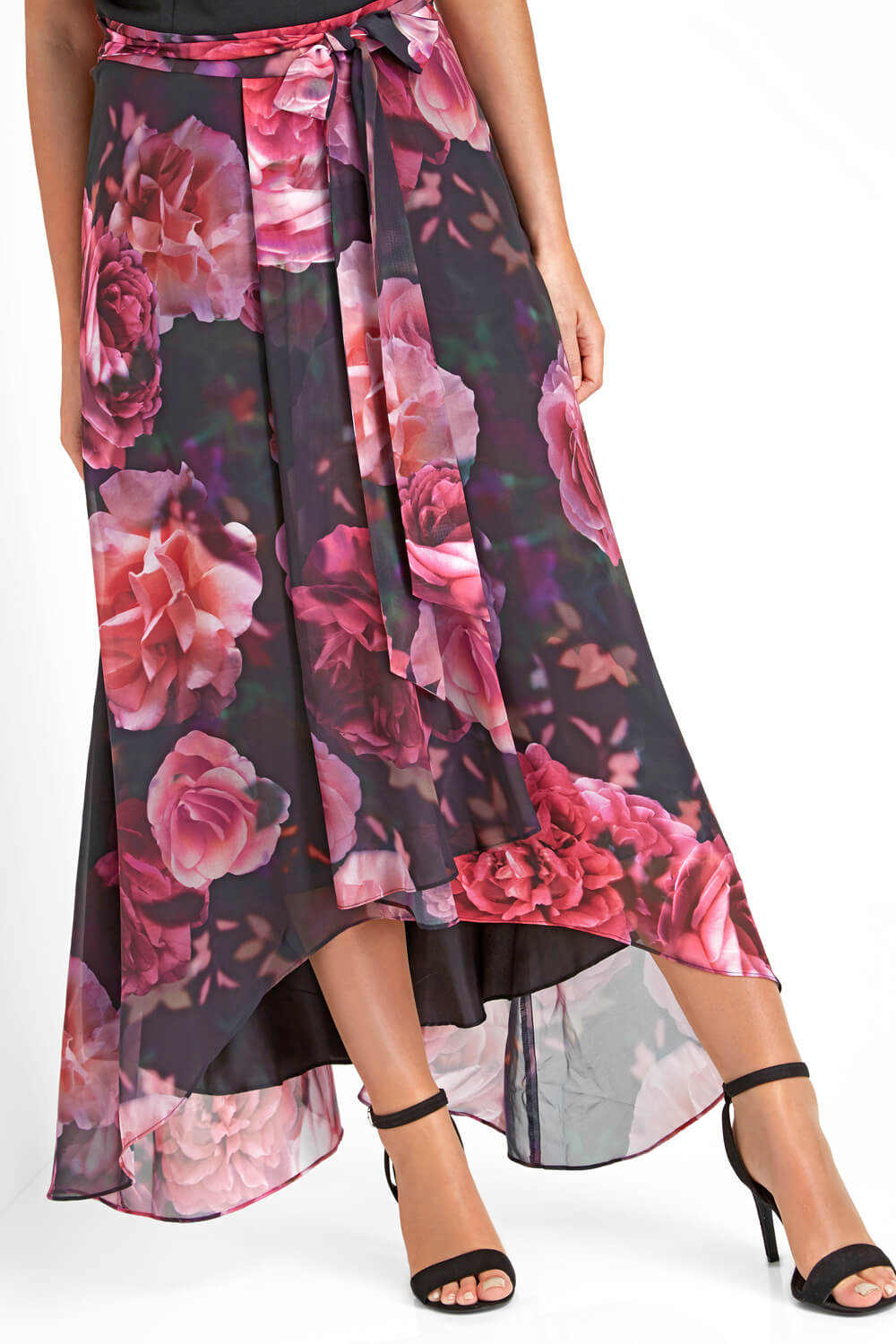 Roman-Originals-Women-Floral-Print-Cold-Shoulder-Maxi-Dress thumbnail 11