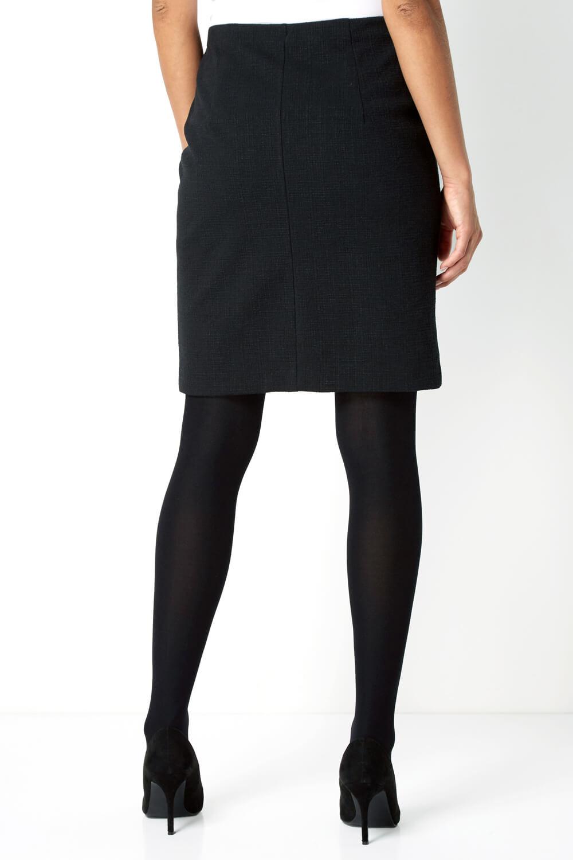 thumbnail 23 - Roman Originals Women's Textured Cotton Mix Jersey Short Skirt Formal Work Wear