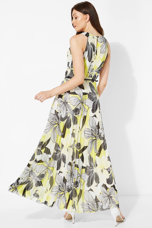 Floral-Halter-Neck-Maxi-Dress-Summer-Evening-Roman-Originals-Women thumbnail 11