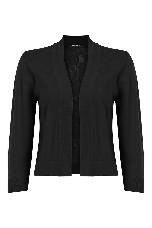Roman-Originals-Women-Lace-Back-Detail-Shrug-Ladies-Bolero-Jacket thumbnail 28