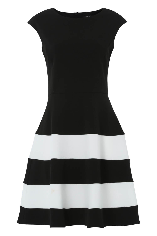 Roman-Originals-Women-Colour-Block-Fit-And-Flare-Dress thumbnail 10