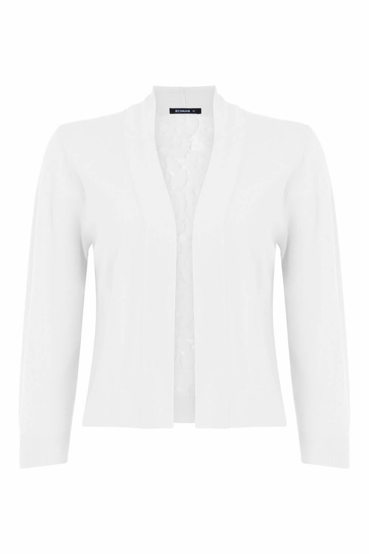 Roman-Originals-Women-Lace-Back-Detail-Shrug-Ladies-Bolero-Jacket thumbnail 34