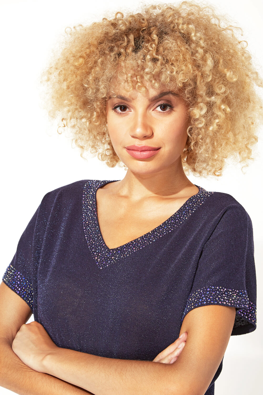 Roman-Originals-Women-039-s-Embellished-Batwing-T-shirt thumbnail 28