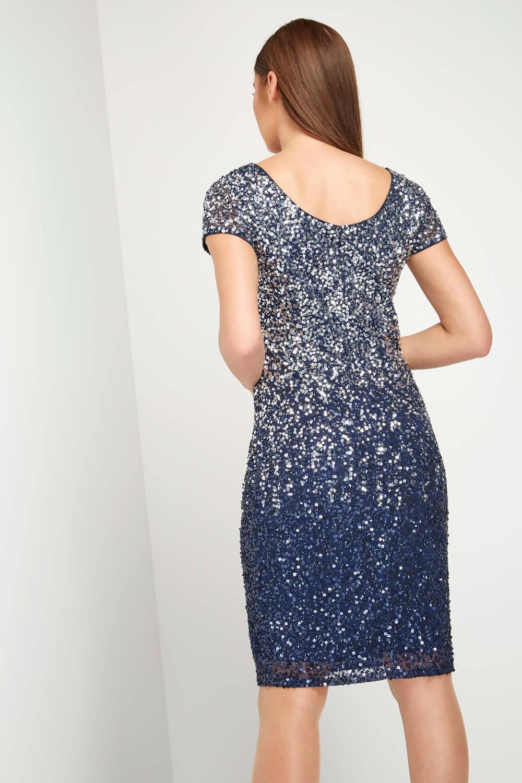 Roman-Originals-Women-039-s-Blue-Ombre-Sequin-Shift-Dress-Sizes-10-20 thumbnail 8