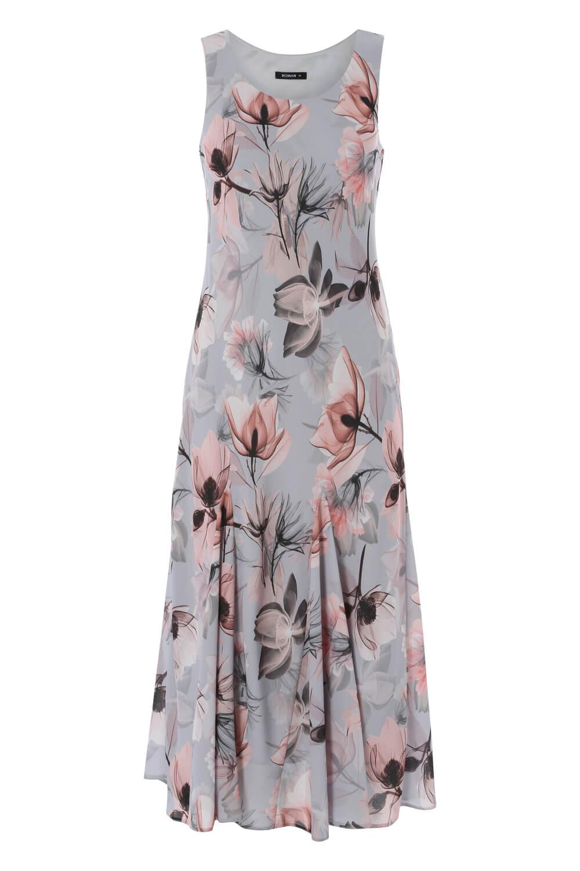 Roman-Originals-Womens-Floral-Bias-Cut-Godet-Dress thumbnail 10