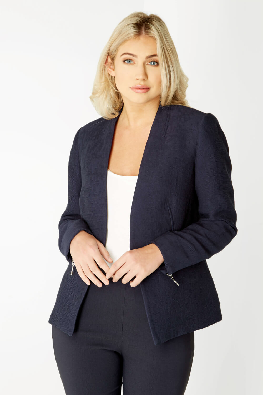 Roman-Originals-Women-039-s-White-Pleat-Tailored-Jacket-Sizes-10-20 thumbnail 28