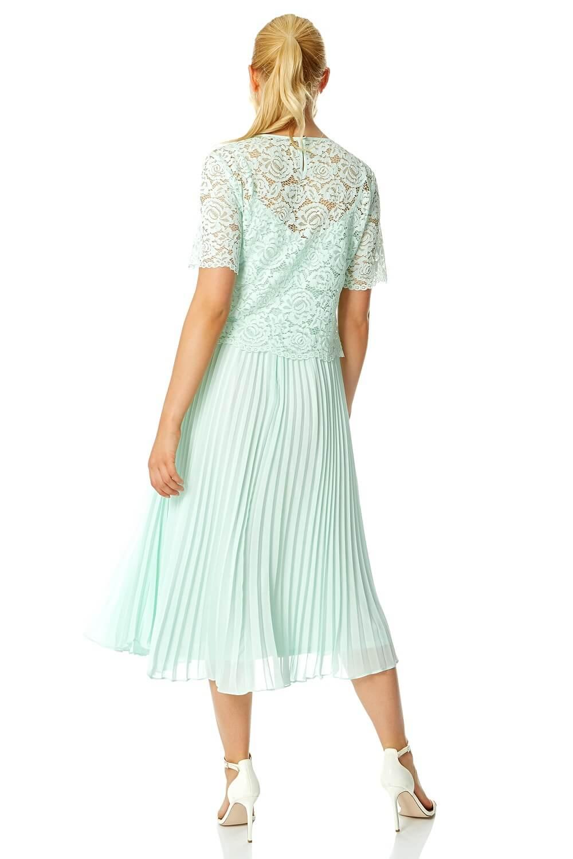 Roman-Originals-Women-Lace-Top-Overlay-Pleated-Dress thumbnail 34