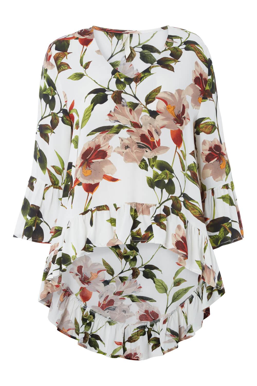 Roman-Originals-Women-039-s-Drop-Ourlet-Floral-Haut-Tailles-10-20 miniature 8