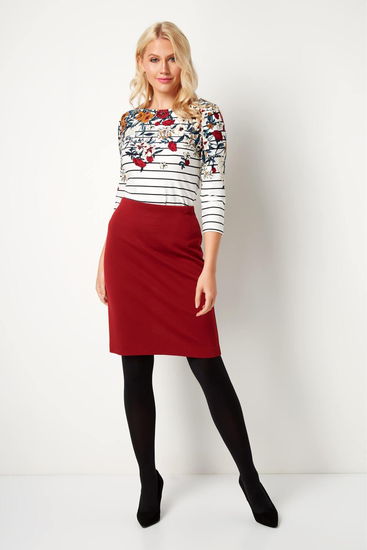 thumbnail 40 - Roman Originals Women's Textured Cotton Mix Jersey Short Skirt Formal Work Wear